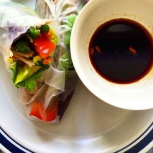 Veggie Spring Rolls with Sriracha Soy Sauce