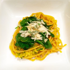 Creamy Hubbard Squash Linguine with Zoodles & Sage