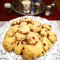 Luscious Lemon Cranberry Cookies