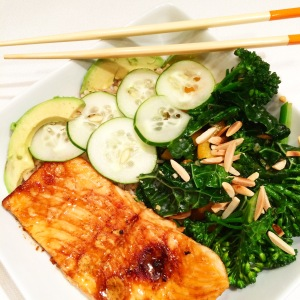 Sesame Salmon Brown Rice Bowls