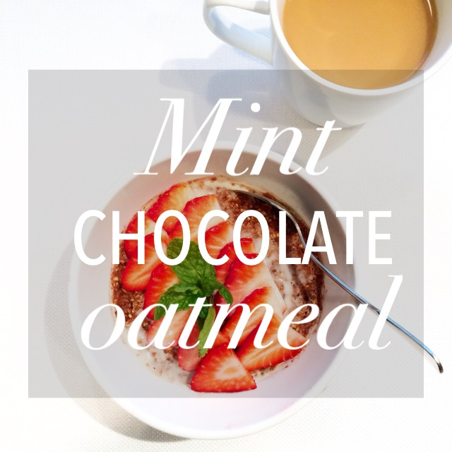Mint Chocolate Oatmeal