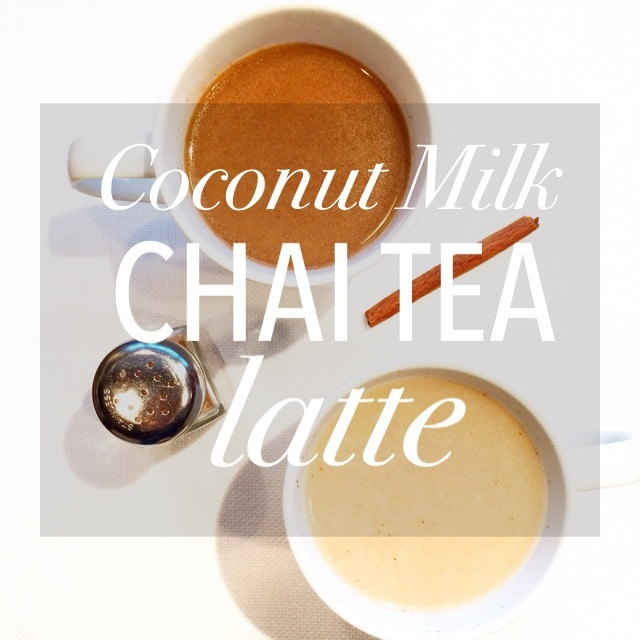 Coconut Milk Chai Tea Latte