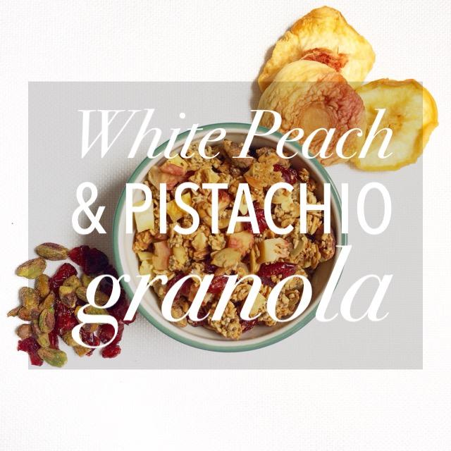 White Peach & Pistachio Granola