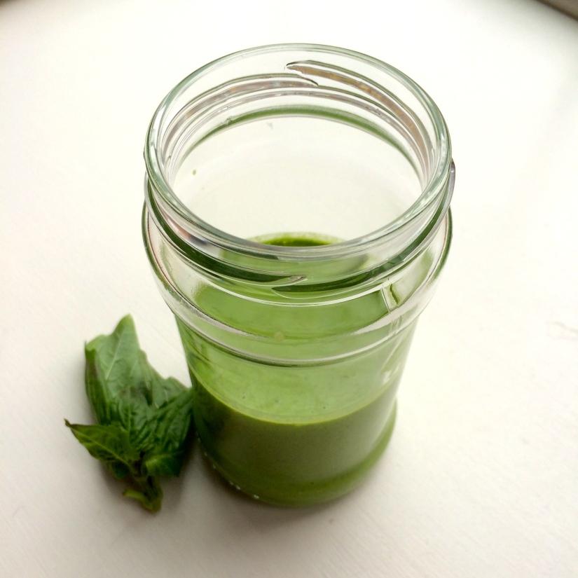 Creamy Basil & Spinach Dressing