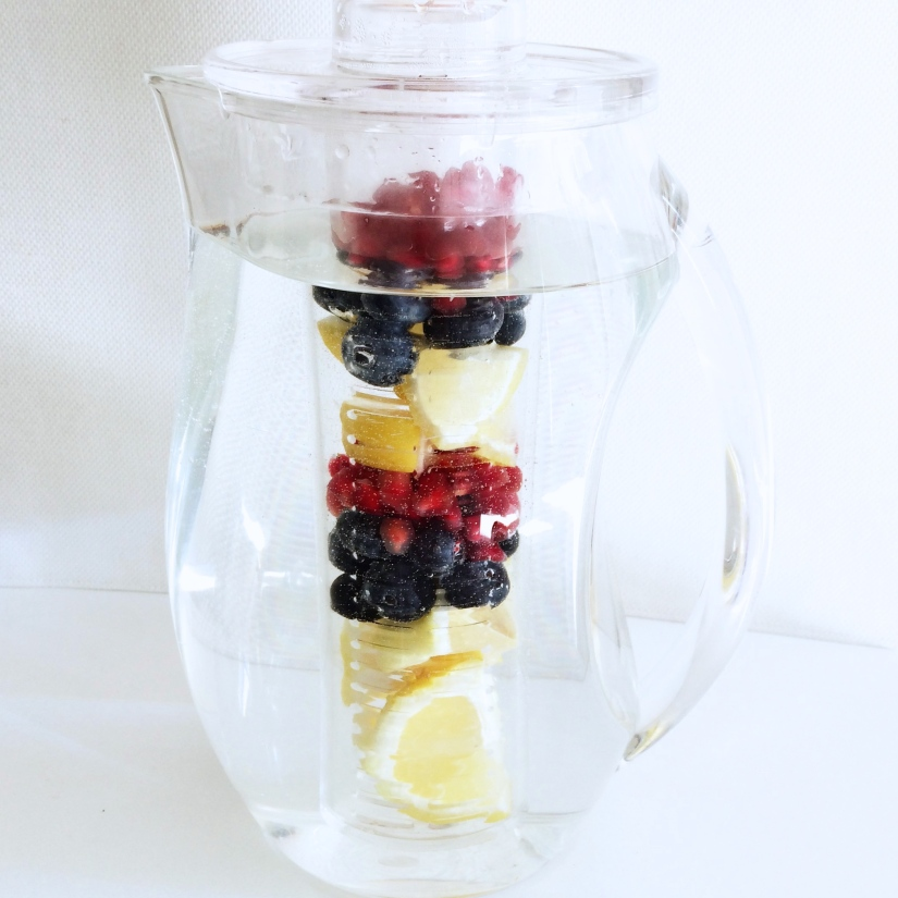 Blueberry, Pomegranate & Lemon Water