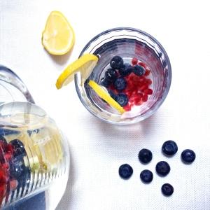 Blueberry, Pomegranate & Lemon Water