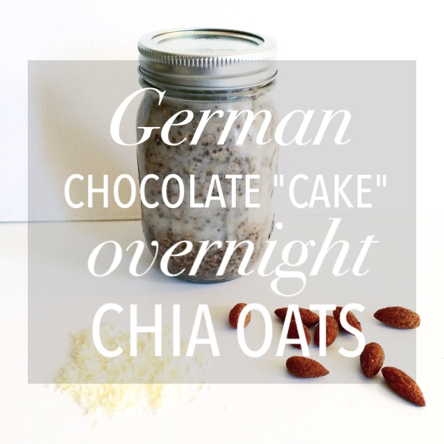 "German Chocolate ""Cake"" Overnight Chia Oats"