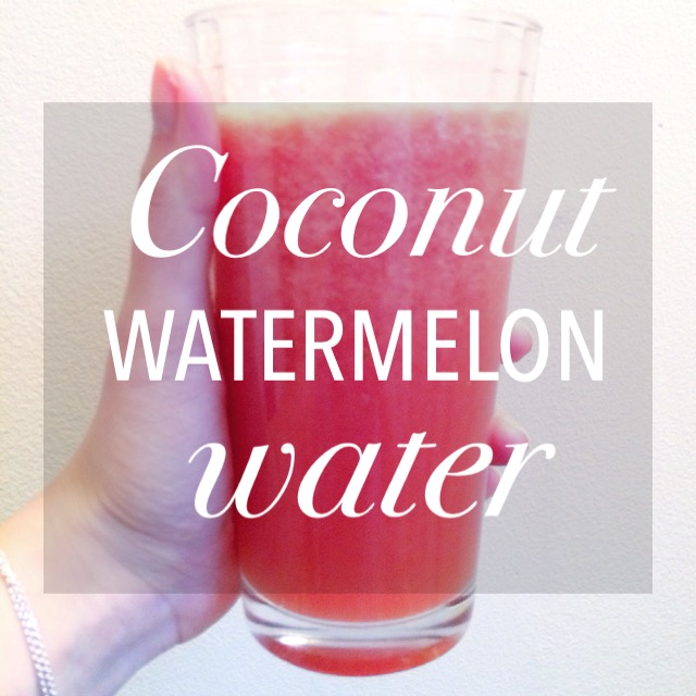 Coconut Watermelon Water