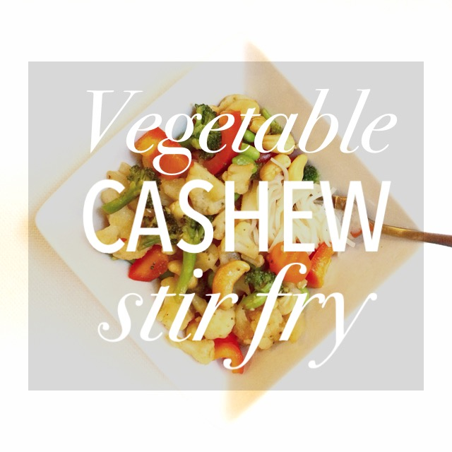 Vegetable Cashew Stir Fry