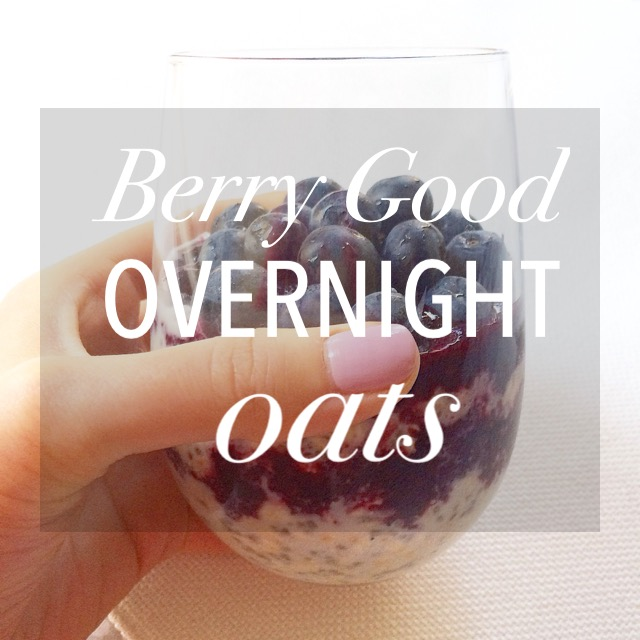 Berry Good Overnight Oats