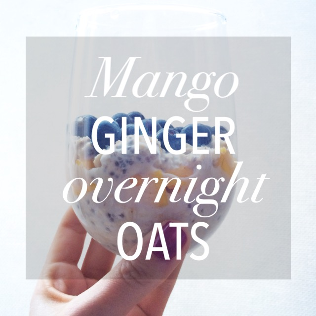 Mango Ginger Overnight Oats