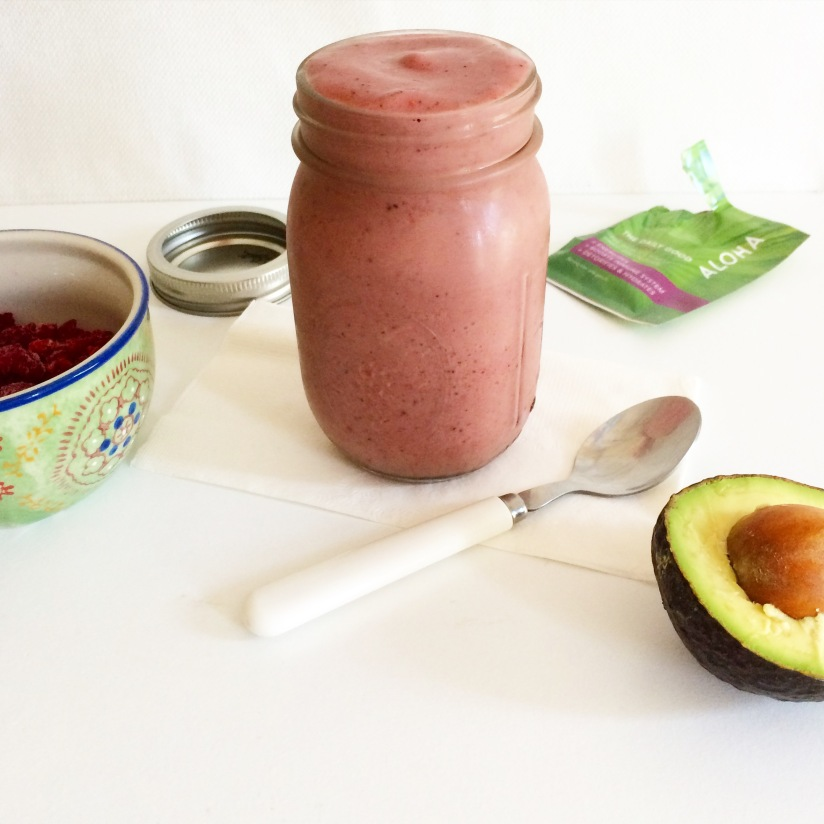 Creamy Avocado Raspberry Smoothie