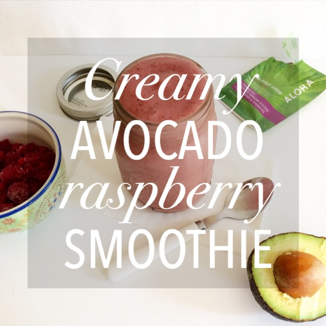 Creamy Avocado Raspberry Smoothie