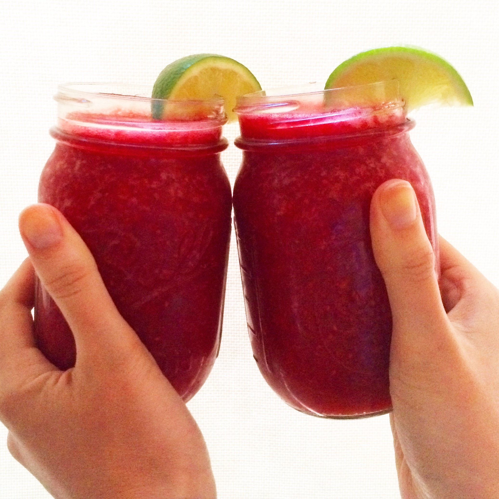 "MDW's ""Adult"" Raspberry Lime Slushies 