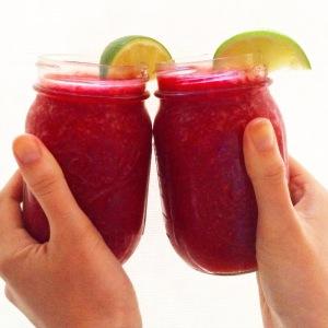 Raspberry Lime Rickeys with Hendrick's