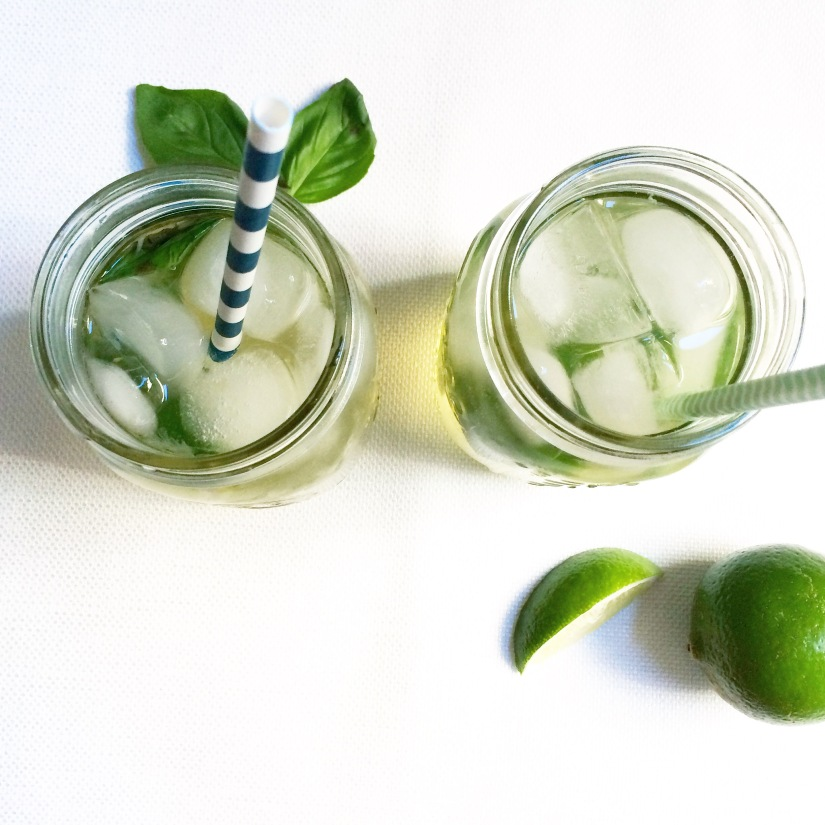 Ginger Basil Spritzers
