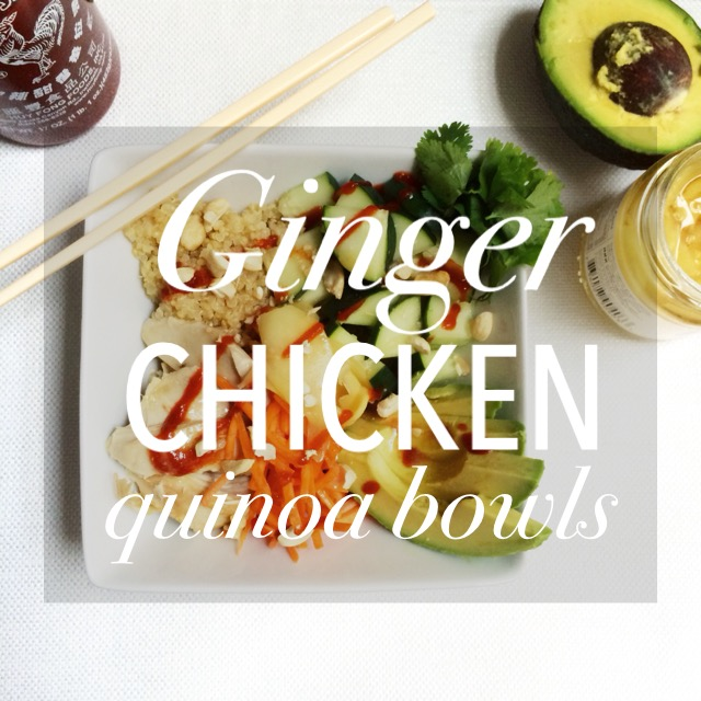 Ginger Chicken Quinoa Bowls