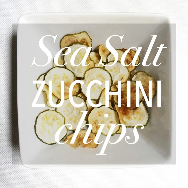 Sea Salt Zucchini Chips