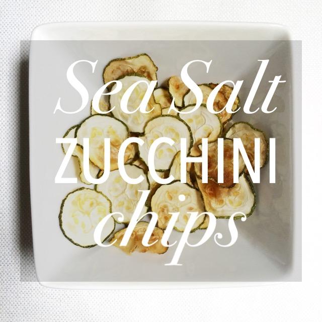 Sea Salt Zucchini Chips