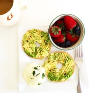 Eggs in a Mug with Avocado Toast