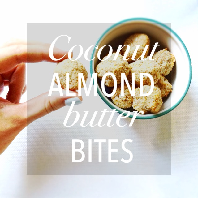 Coconut Almond Butter Bites