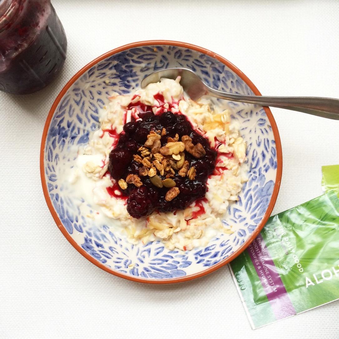 Swiss Muesli: Superfood Poached Berries & Granola