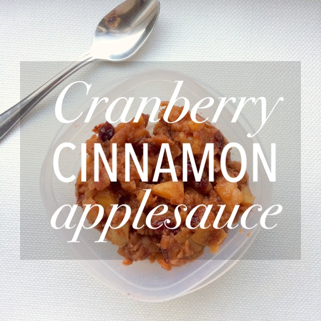 Cranberry Cinnamon Applesauce