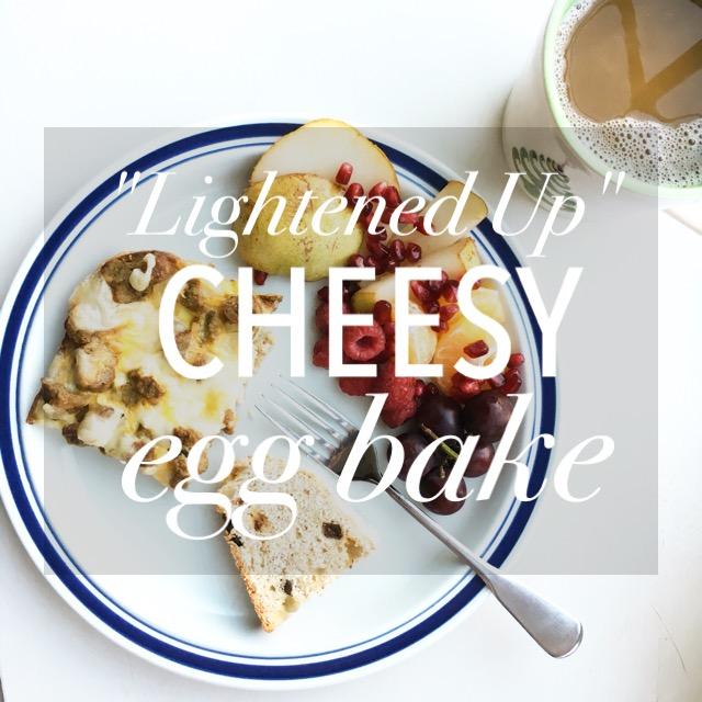 """""""Lightened Up"""" Cheesy Egg Bake"""