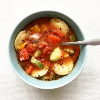 Raving for this Veggie Ravioli Soup