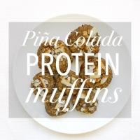 Power Piña Colada Protein Muffins