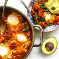 Simply Savory Smoked Sweet Potato Shakshuka